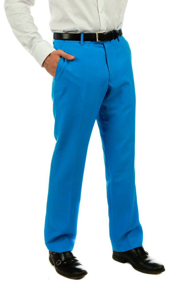 Little Boy Blue | Bright Blue Suit Pants