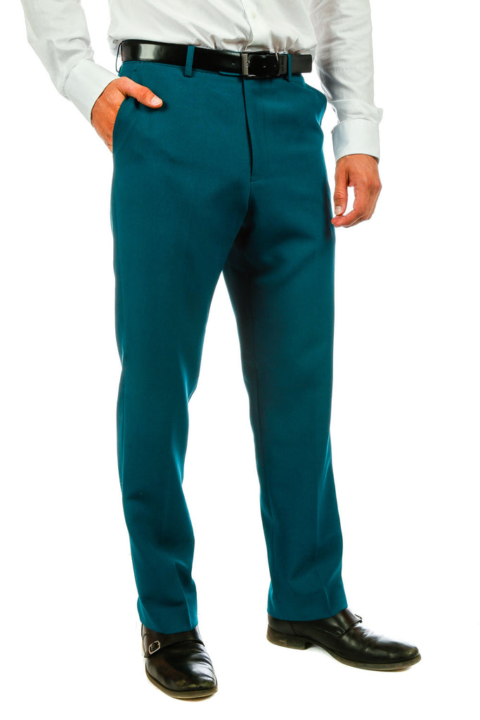 The Teal Titans | Teal Suit Pants