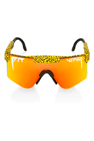 Yellow Cheetah Print Pit Viper Retro Sunglasses