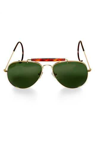 green lens wrap around retro aviators