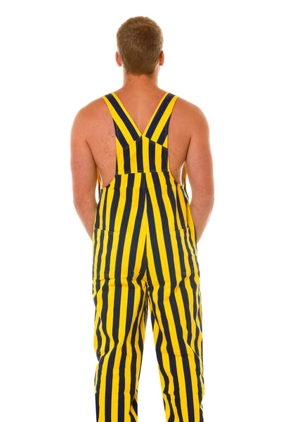 Back of Yellow and Blue Overalls