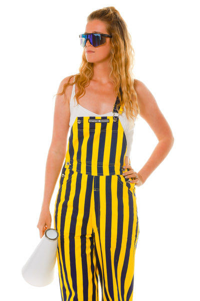 Blue and Yellow Girl's Overalls