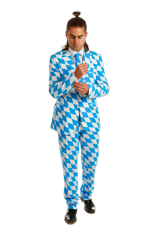 Blue and White Derby Party Suit