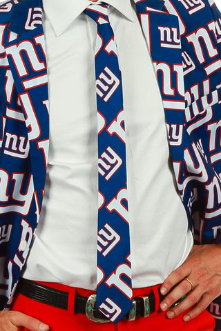 Men's Suit Tie Officially Licensed NFL Apparel New York Giants
