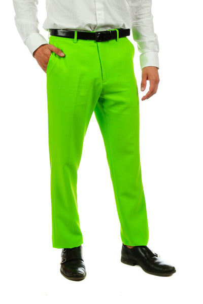 Lime Green Suit Pants - Shinesty