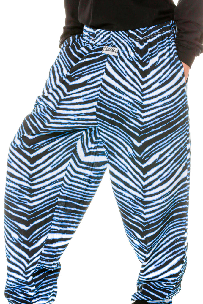 ladies black and blue zubaz pants