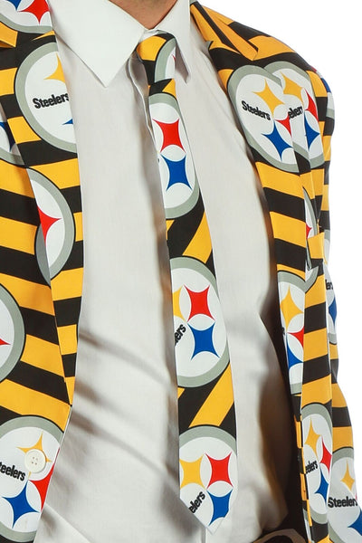 40200870583 Men s Suit Tie Officially Licensed NFL Apparel Pittsburgh Steelers