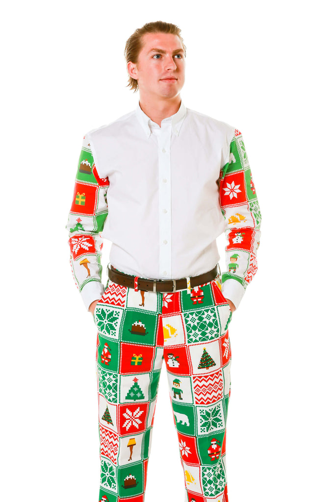 Men's Matching ugly holiday sweater shirt