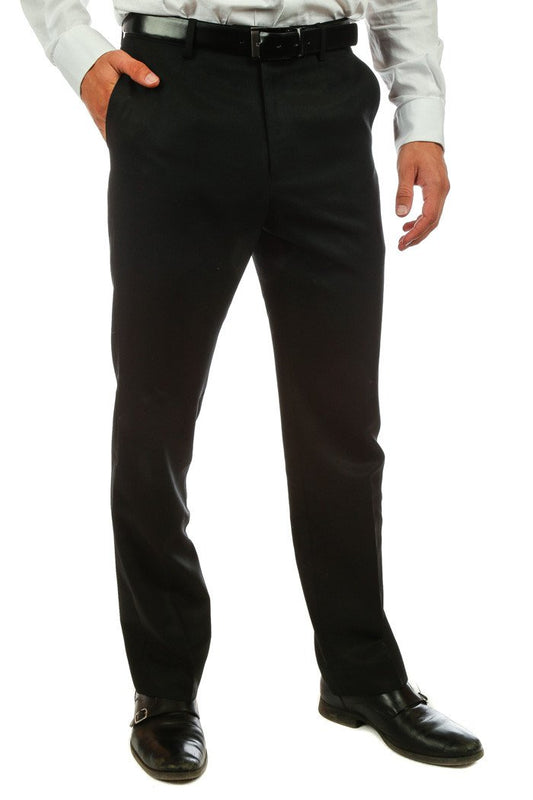Men's dark black suit pants