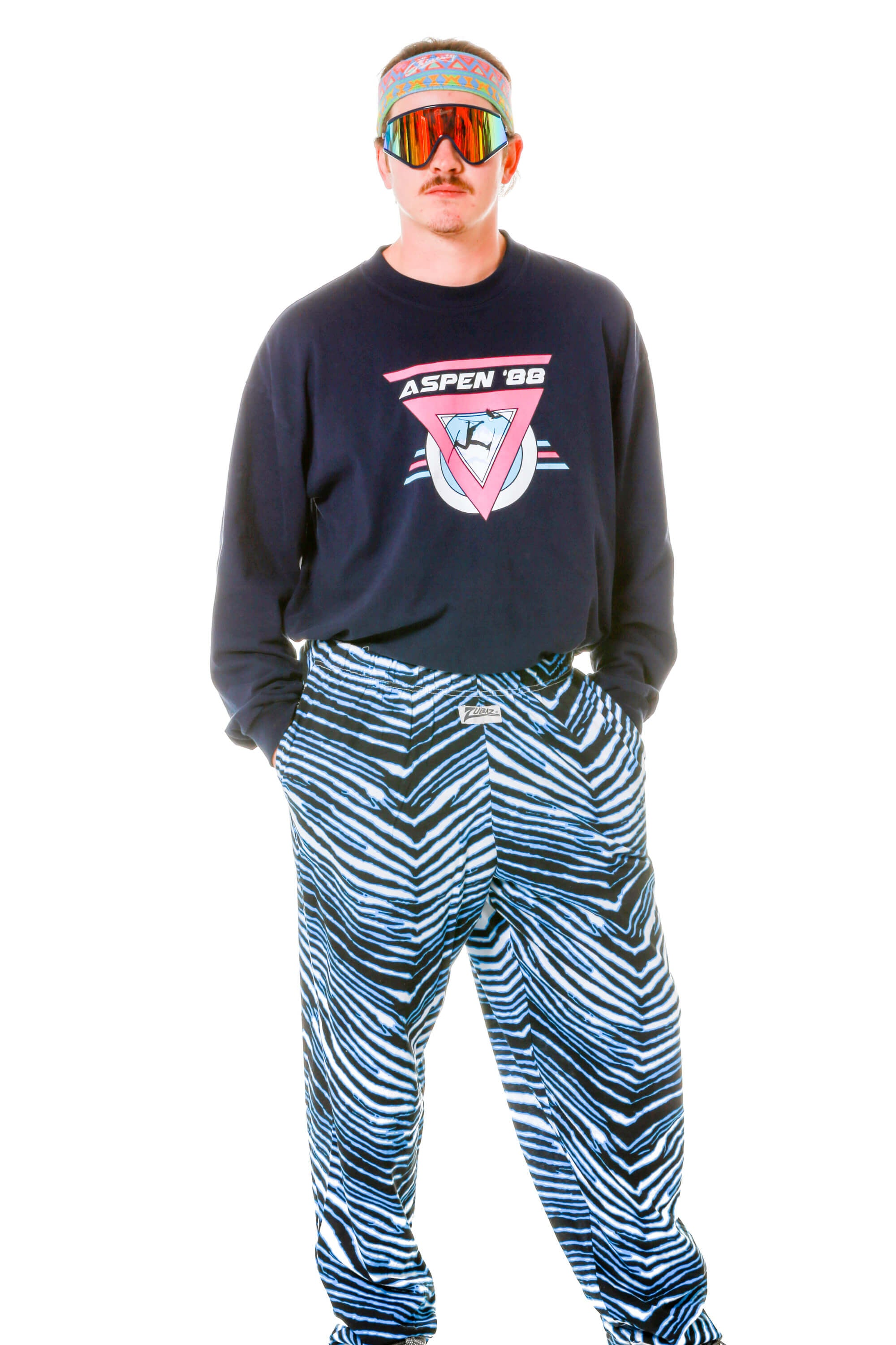 044b44c1 The Fighter | Black And Blue Hammer Pants