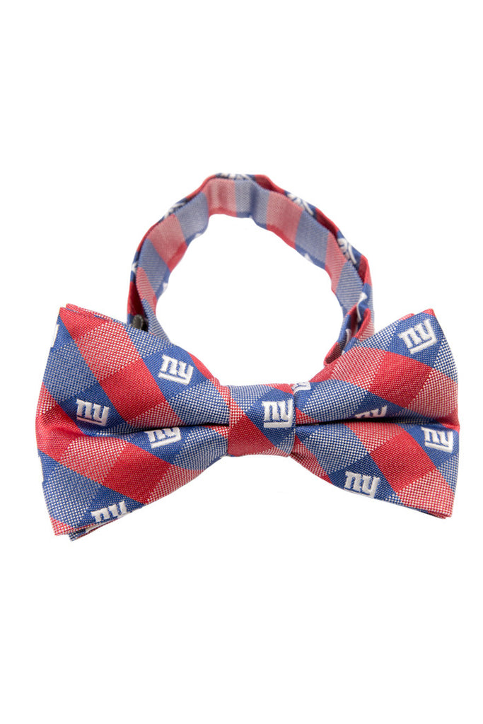 New York Giants Checkered Bow Tie - Shinesty
