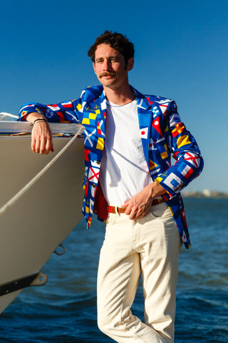 Nautical flag blazer