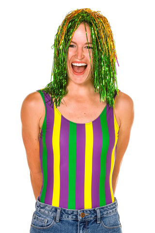 Ladies Mardi Gras Tinsel Wig
