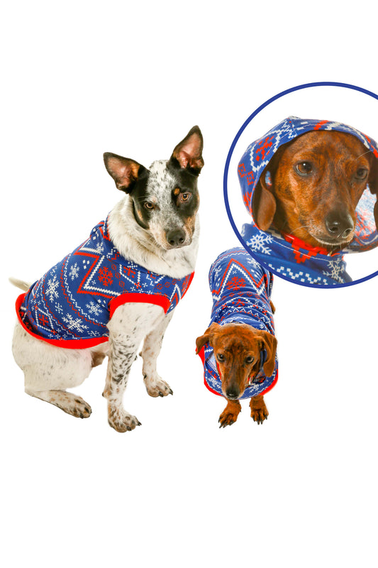 Christmas Sweaters For Dogs.The Nordic Pooch Dog Christmas Sweater