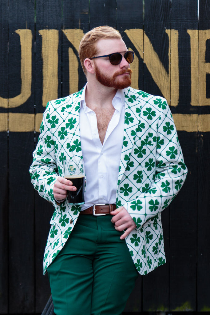 Pre-Order - The Four Leaf St. Patrick's Day Shamrock Blazer & Tie - Delivery Early March 2017 - Shinesty