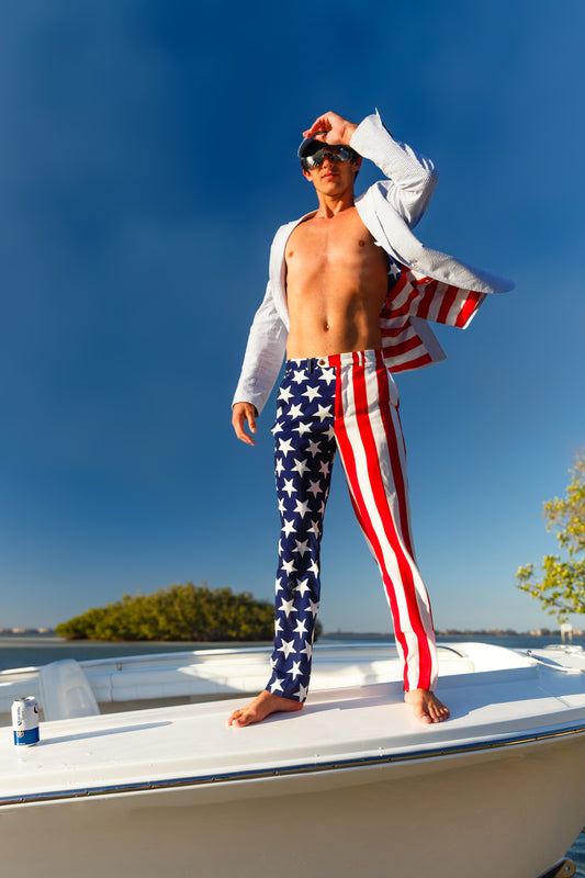 Patriotic Suit Pants