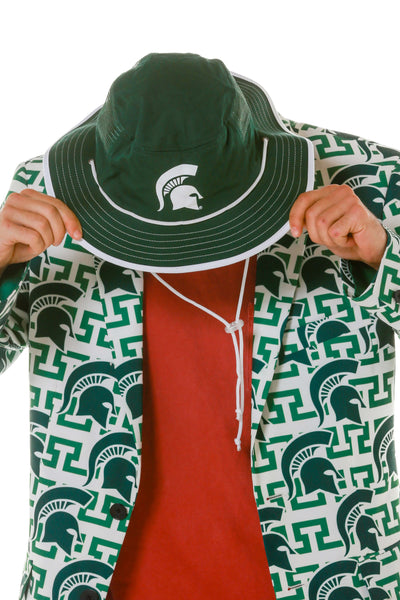 6b565a32722ee michigan state spartans bucket hat shinesty ncaa cowbucker