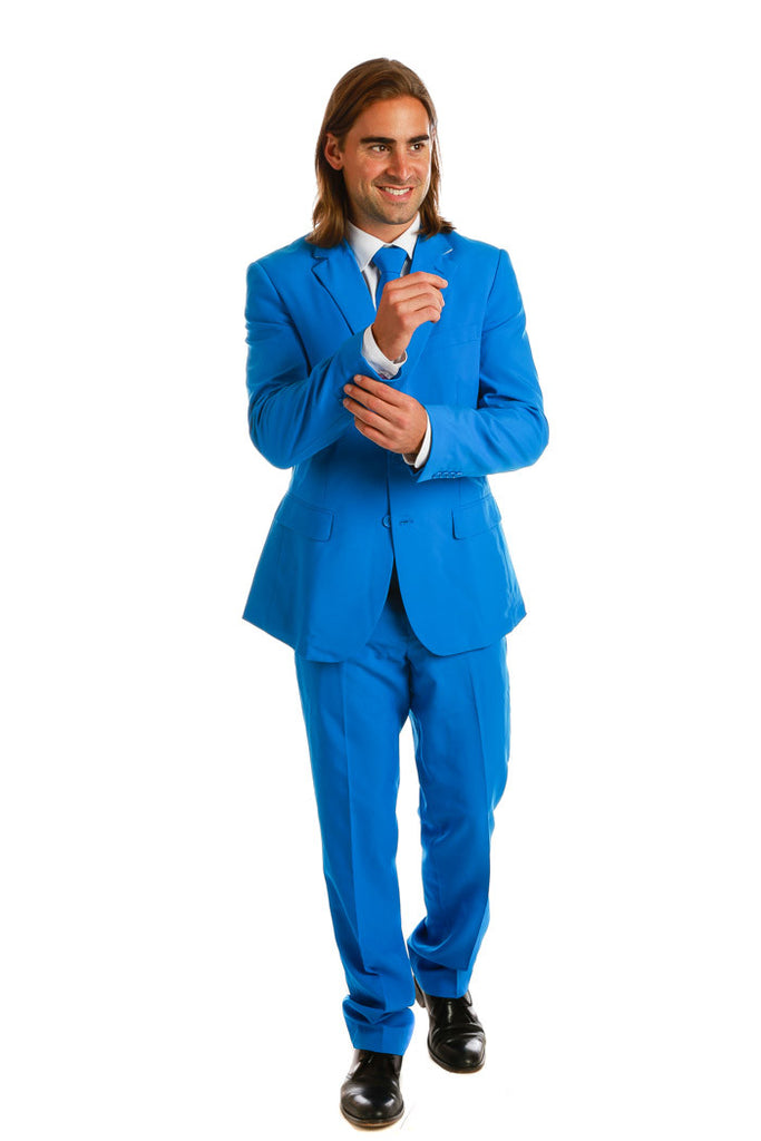 Mens Royal Blue Suit and Tie