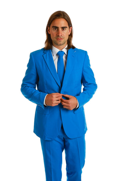 Royal Blue Party Suit and Tie for Men