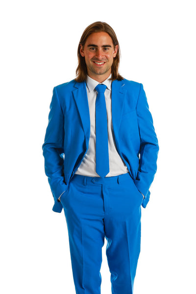 Light Royal Blue Suit and Tie for Men