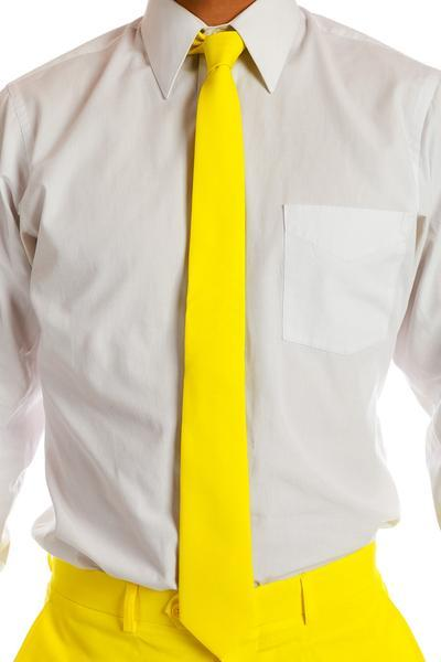 Mens Yellow Tie