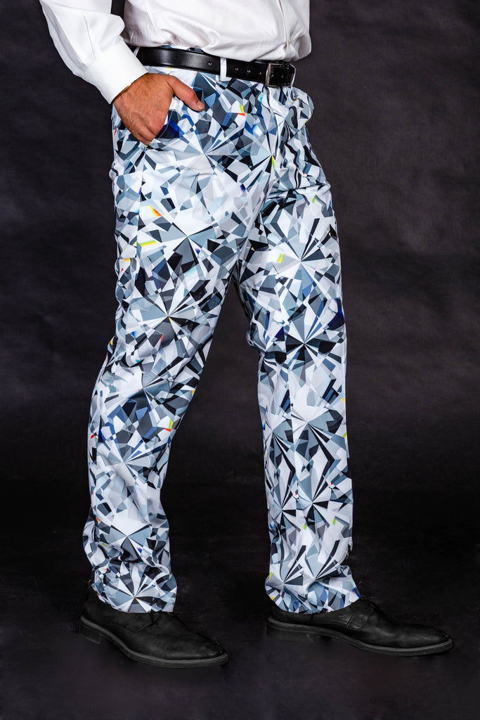 Harder Than A Diamond | NYE Diamond Print Pants