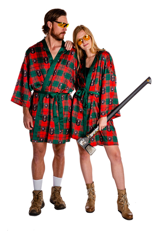couples matching taxidermy hunting robe