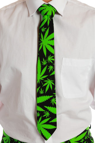 Reefer Madness Weed Leaf Tie - Shinesty