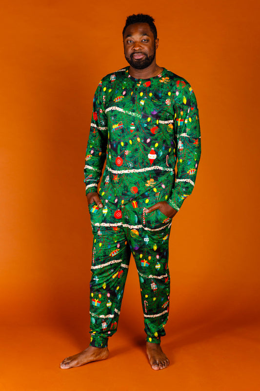 Guys Xmas Pattern Pajama Pants