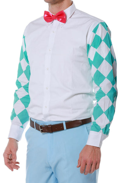 patterned button down for men