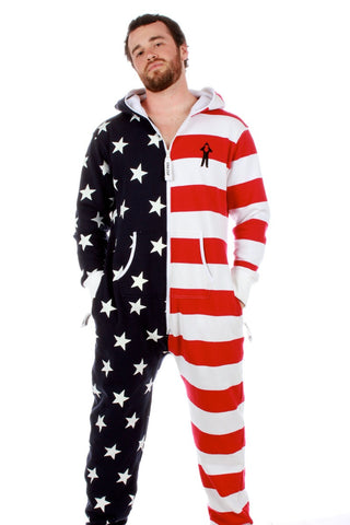 The Sam Adams American Flag Onesie (a.k.a. Body Sock) - Shinesty