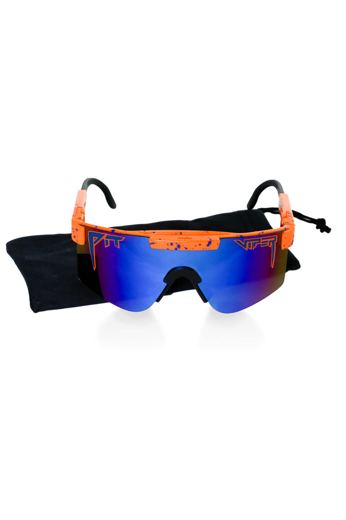 Blue Lens Polarized Orange Sunglasses