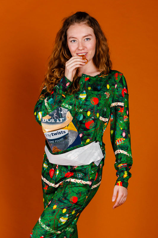 Ladies Christmas Camouflage Pajama Top