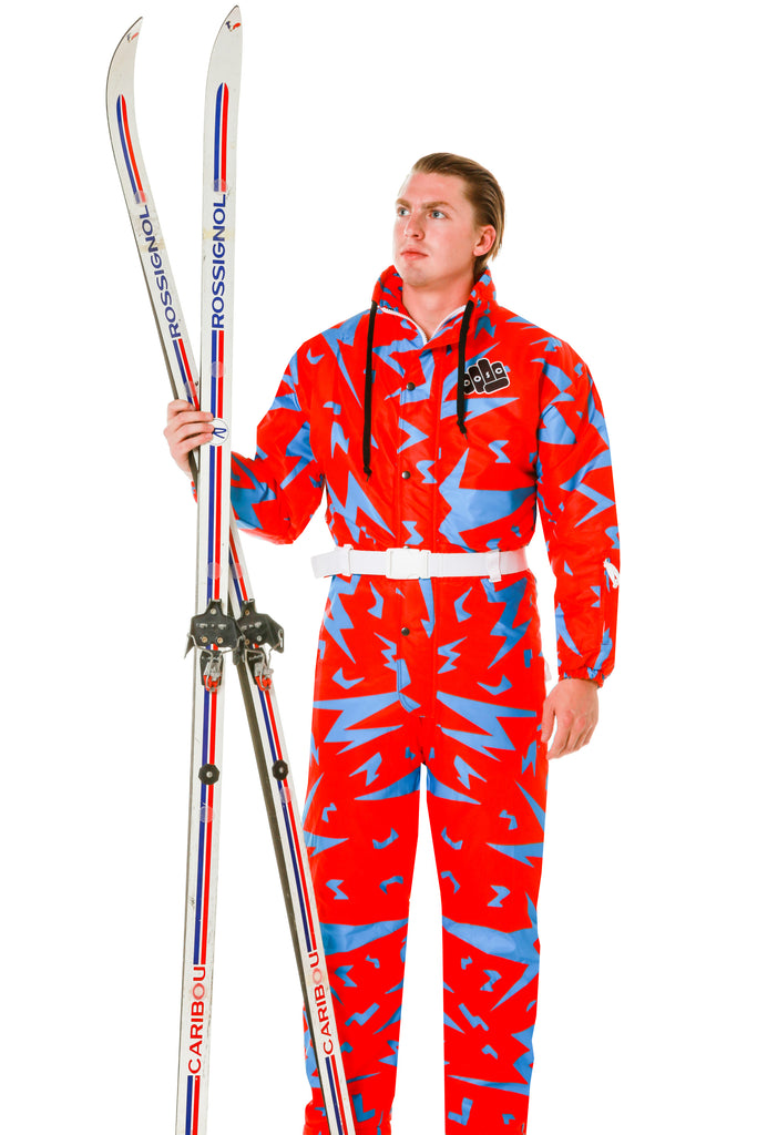 The David F. Bowie | Men's Red 80s Ski Suit