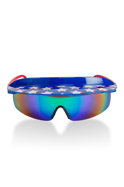 72dc204ce477a THE FLY BYS AMERICAN FLAG 80S VISOR SUNGLASSES