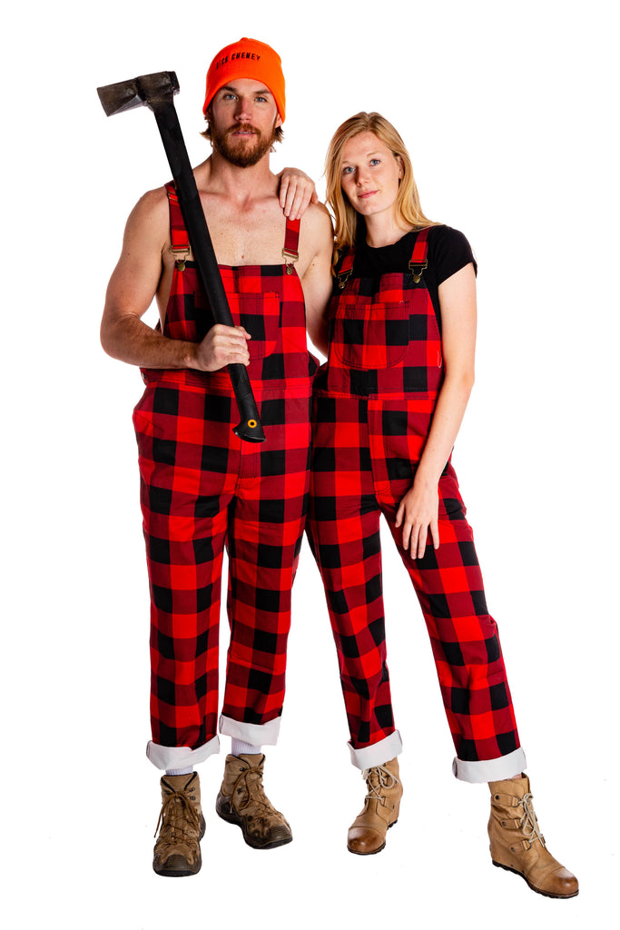 The Day Drinking Dungarees | Men's Buffalo Check Overalls