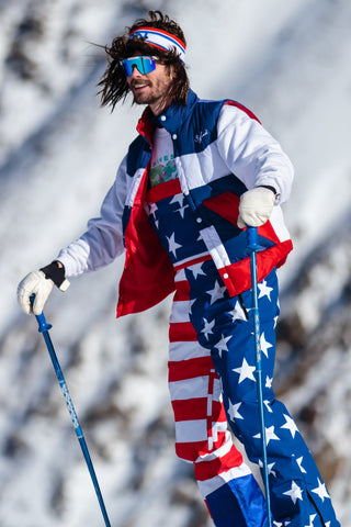 How's Your Aspen American Flag Ski Pants with Bibs