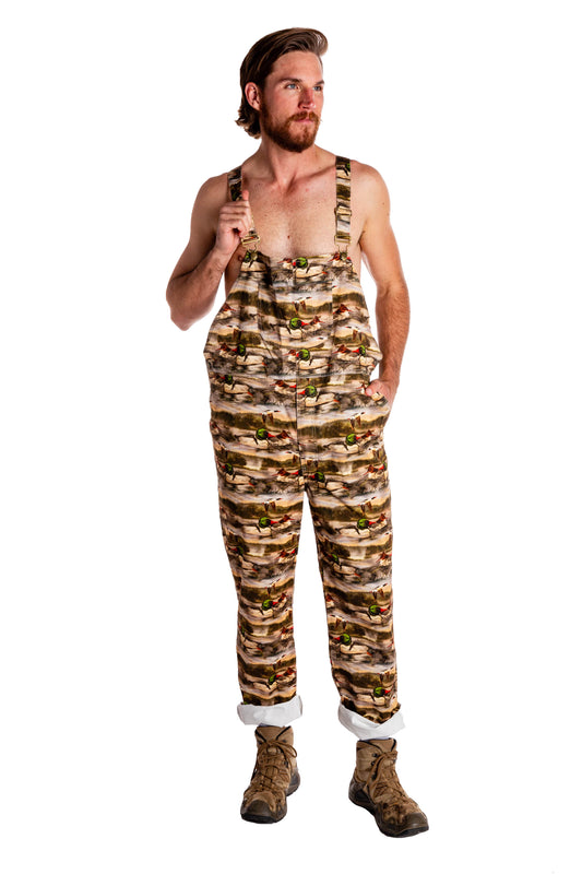 overalls for men hunting with ducks