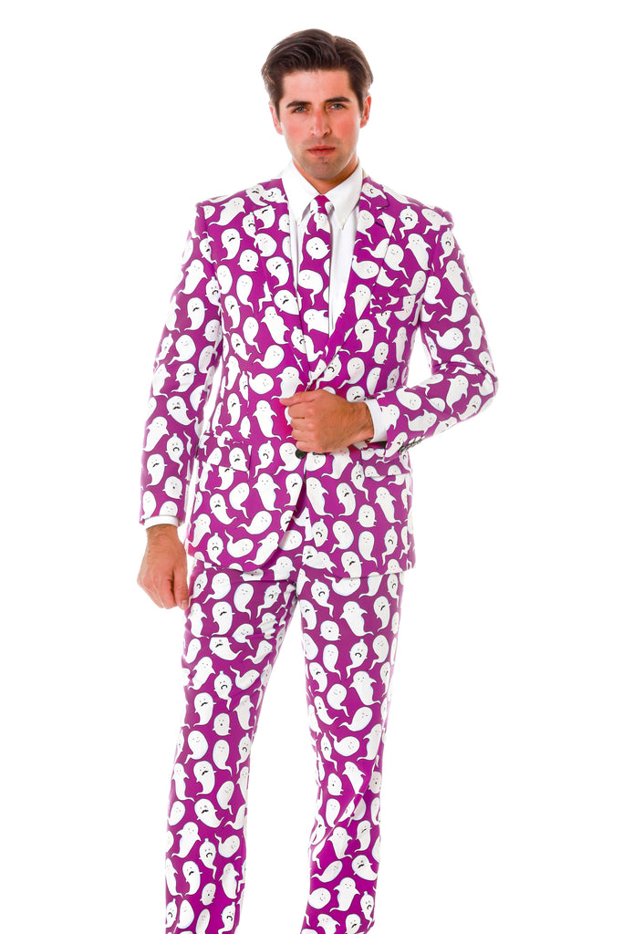 The Spermy Ghosts Purple Halloween Suit