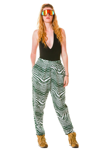 The All Nighters Ladies Green Zebra Hammer Pants