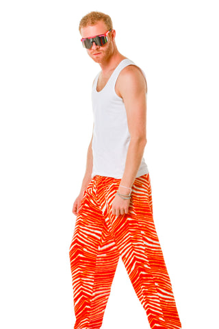 Red and yellow hammer pants by zubaz