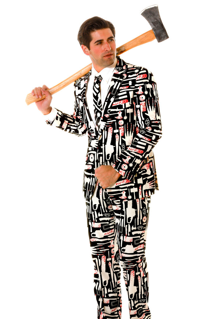 Mens Murder Weapon Halloween Suit