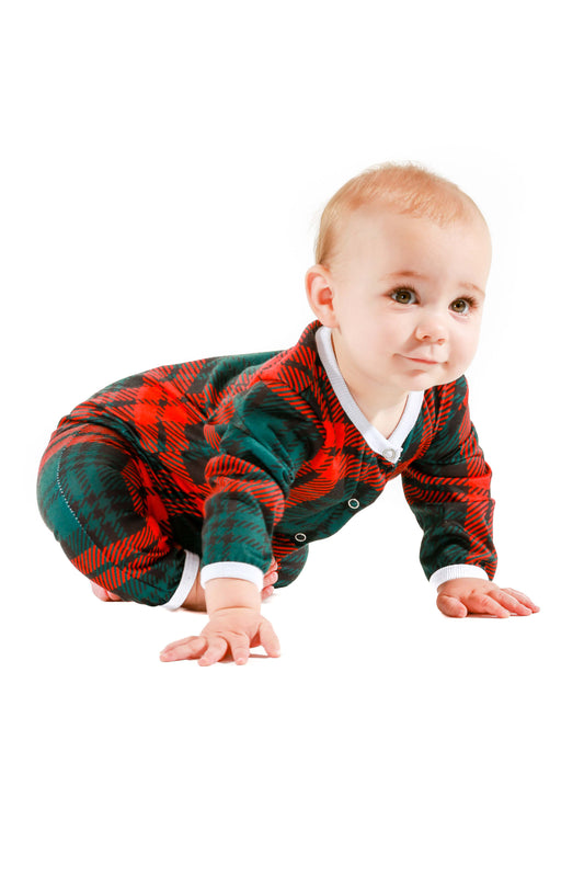 2434ad069496a The Lincoln Log   Love Baby Plaid Baby Outfit