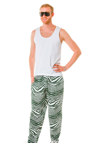 The All Nighters Green Zebra Hammer Pants