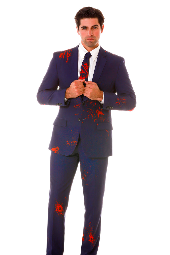 The Bandaids Don't Fix Bullet Holes Zombie Herringbone Halloween Suit