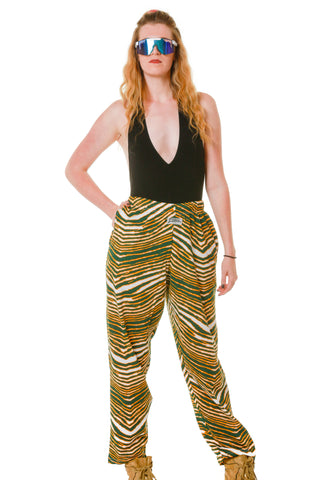 Green and yellow Green Bay Packers Hammer Pants by Zubaz