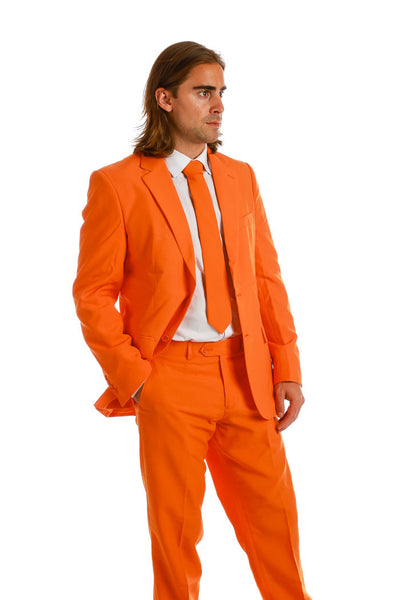 Men's Orange Suit Jacket