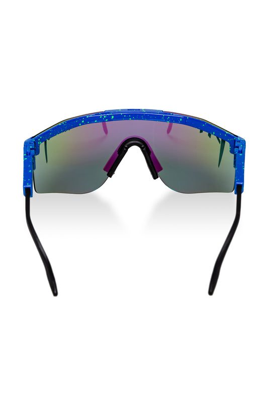 Blue and Neon Green Polarized Pit Vipers