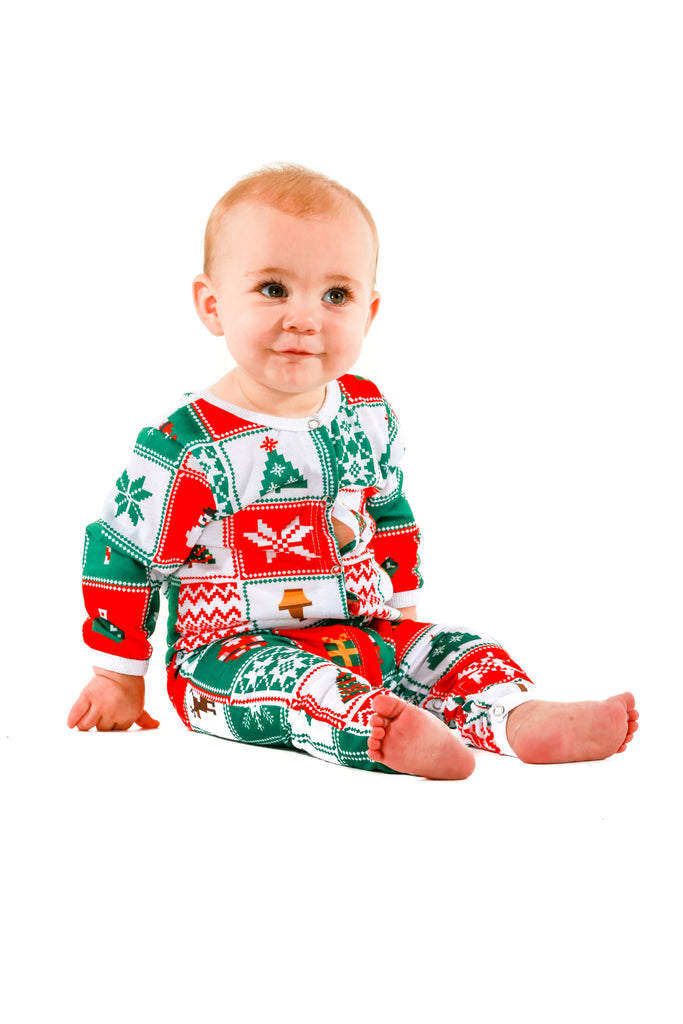 christmas patchwork matching baby onesie