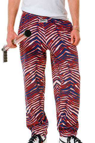 Red White and Blue Hammer pants by Zubaz